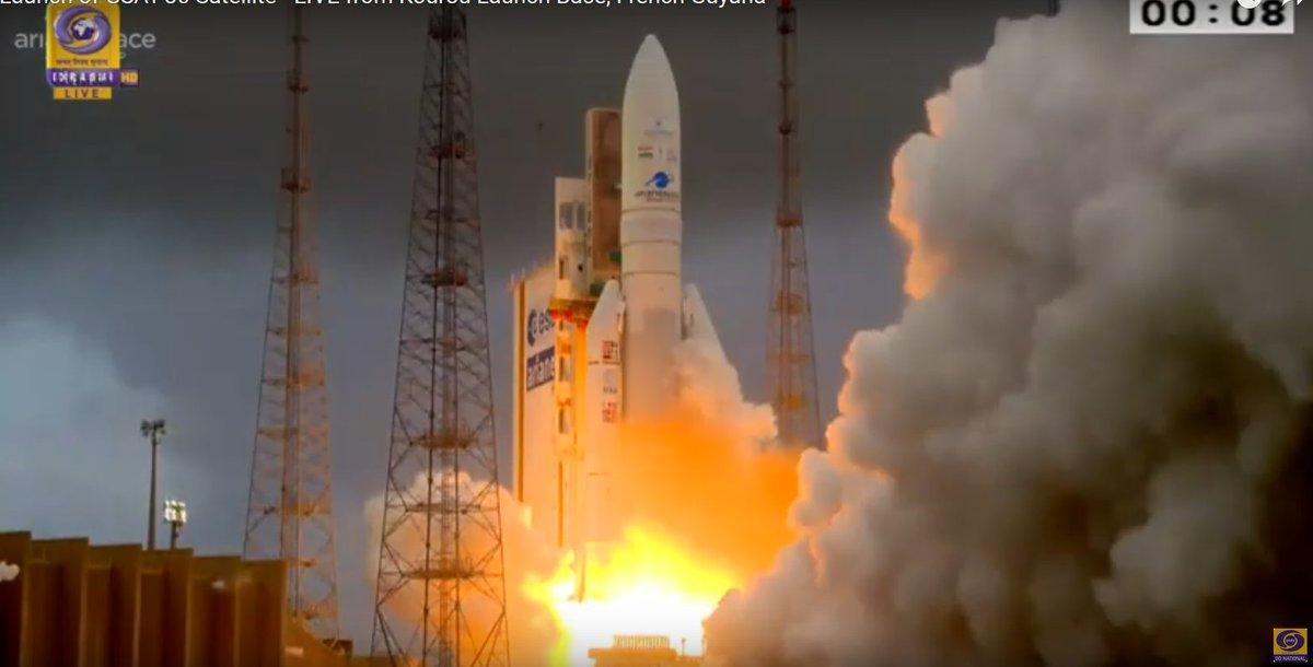 #Ariane5 Flight #VA251 carrying #GSAT30 and EUTELSAT KONNECT successfully liftoff