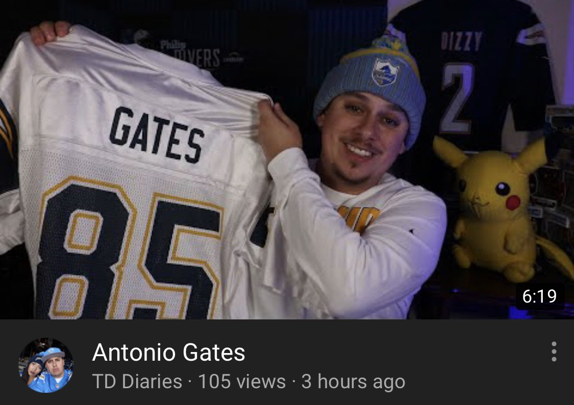 When you make your YouTube video of Antonio Gates retirement 6:19 long. 😏 #ForTheCulture