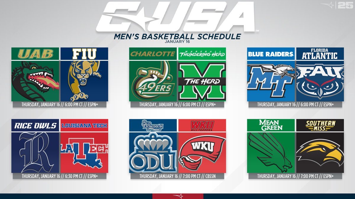 Whos ready for another night of #CUSAMBB? Weve got 6️⃣ games on the slate tonight ⬇️ Dont miss a second of the action!