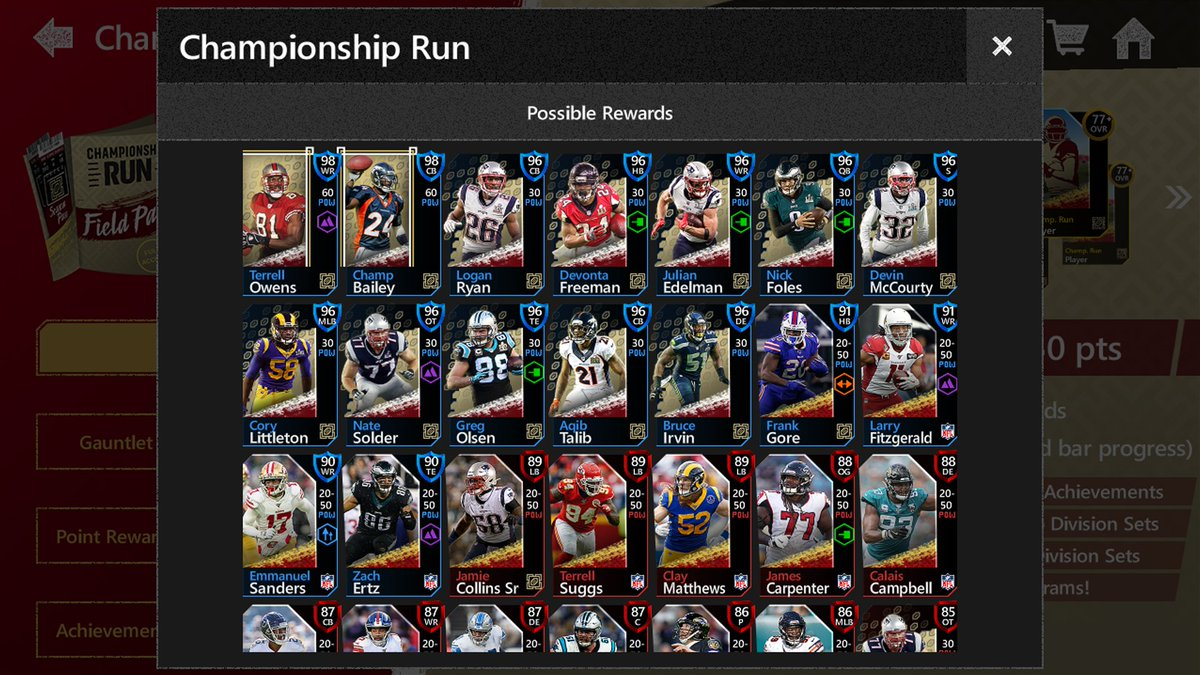 Madden Nfl Mobile On Twitter Championship Run Full Player Reveal Check Out Championship Run Dropping Tomorrow At 4 Pm Et New Gauntlet New Season And Championship Masters Champ Bailey And Terrell Owens