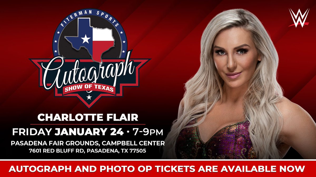 The Queen is coming to the Autograph Show of Texas on Friday, January 24 in Pasadena, TX! Autograph Signing and Photo Op tickets are available now! Woooo! https://bit.ly/2NrHCjjpic.twitter.com/4gOZTbc9vg