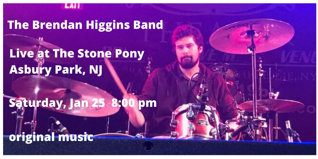 The Brendan Higgins Band live at the Stone Pony, Asbury Park, NJ, Jan 25 as one of the openers for Whiskey Crossing Ticket info: adv $13 (DM me), adv box office $14, Ticket Master $23, Day of Cash $15 and card $18 pic.twitter.com/8KR6MoPs91