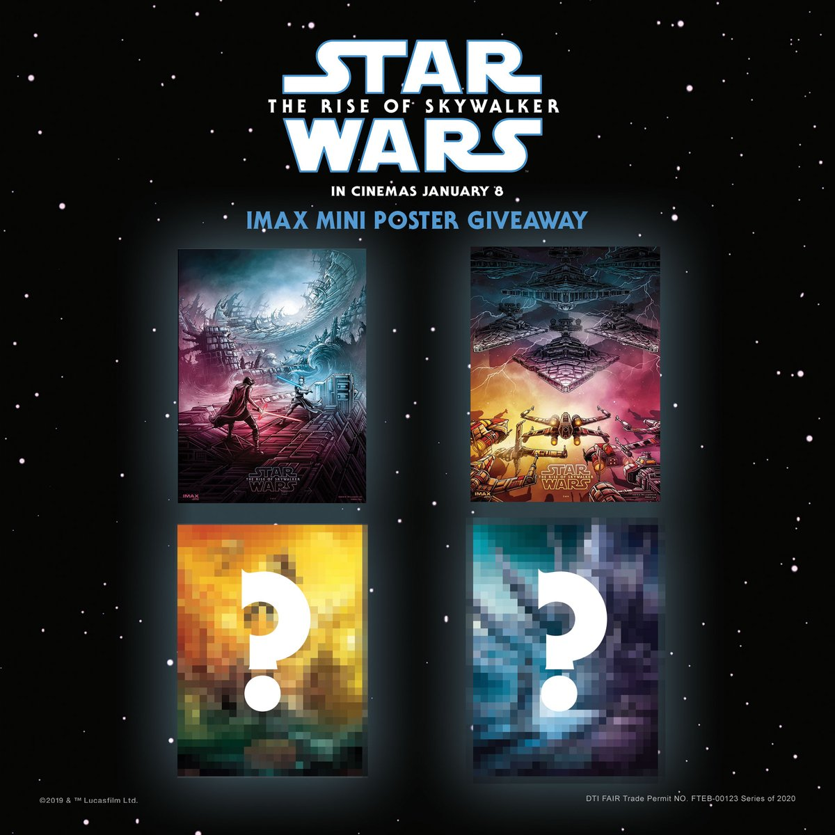 We're now on our second week! Collect 4 exclusive mini posters when you see #StarWars: #TheRiseOfSkywalker in #IMAX at SM Cinema!  The promo duration is for four (4) weeks and a new poster design will be available each week. https://t.co/lorEm9YVUD