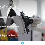 Image for the Tweet beginning: PolyMax™ PETG offers better mechanical