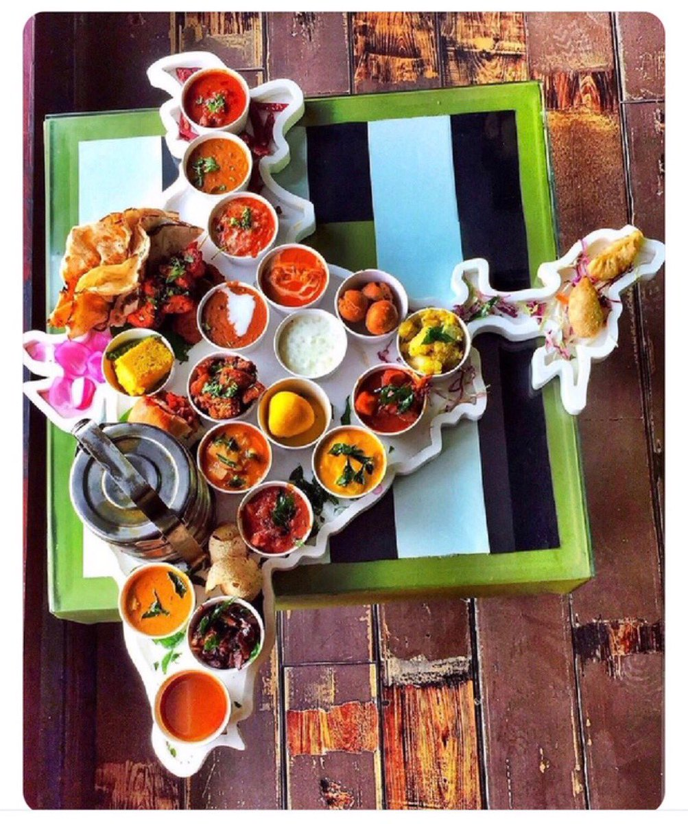 This is amazing! A thali that represents the cuisine from across India. Any idea where this is available? #WhatsappForward #India #FridayVibes #FridayFeeling