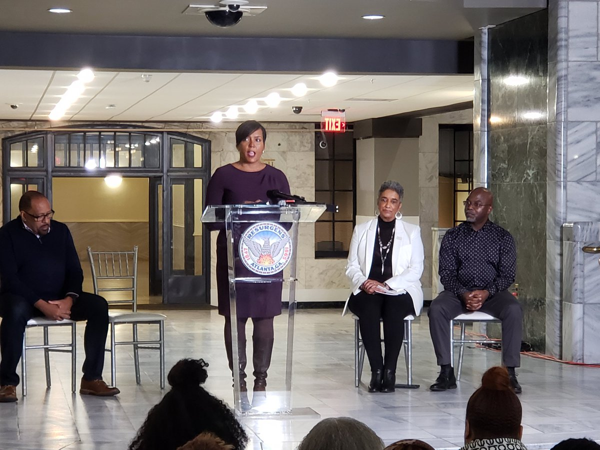 This is the first step in memorializing our children. - @CityofAtlanta Mayor @KeishaBottoms . @FOX5Atlanta is at the unveiling of a portrait gallery created in the memory of victims in the Atlanta Child Murders. MORE--> fox5atlanta.com/news/exhibit-a…
