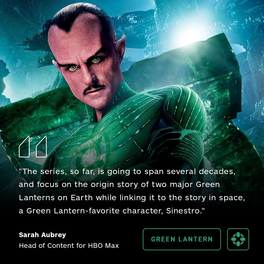 HBO's Max Green Lantern series will focus on two Green Lanterns and the notorious villain Sinestro. <br>http://pic.twitter.com/MXgHixXdPu