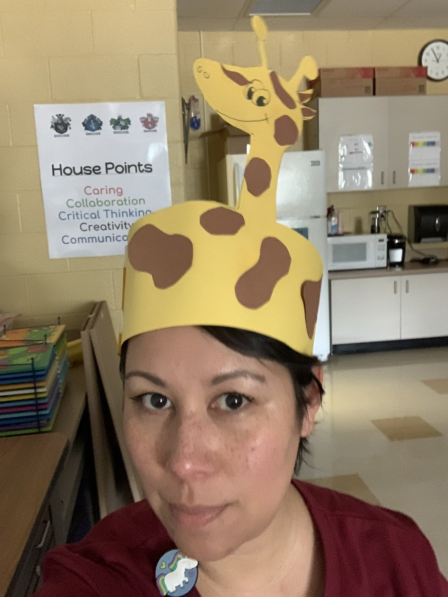 Yes, a student and I worked on giraffe hats today. If you saw me walking in the hallway today with the hat on, that was why. #panthersengaged #staycreative #HaveFun #Giraffepic.twitter.com/Je31hXWv5L
