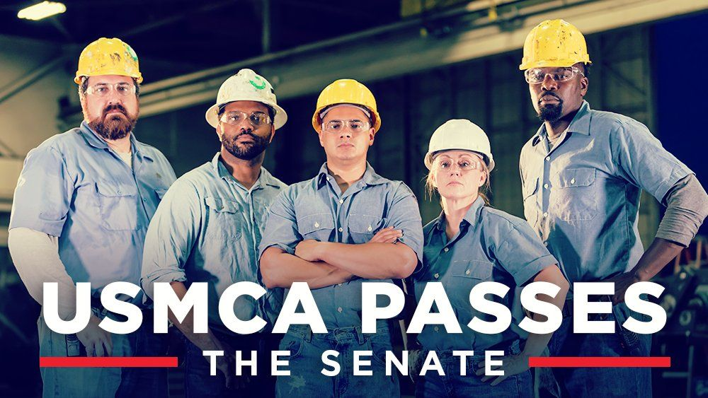 🚨UPDATE: The Senate passed the USMCA trade agreement! Huge win for American jobs!