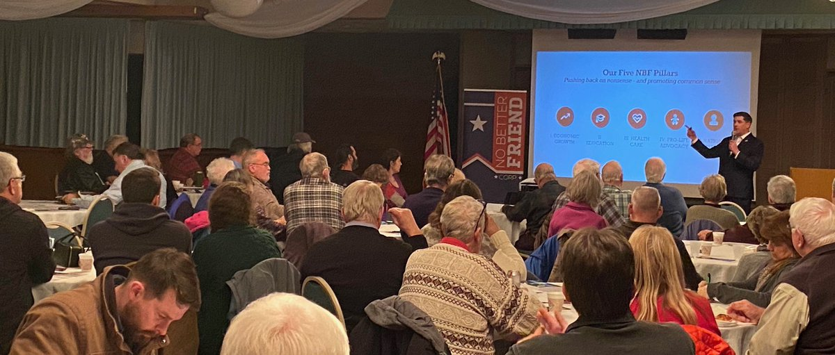 Thanks to our friends at @WisconsinMC,  @WILawLiberty, @WI_Majority and @justicegableman for making their way to Hudson tonight for our January Forum! https://t.co/HgU8sX6FPz