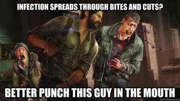 It does make me wonder why Leon doesn't turn #RE2 #ResidentEvil   #horrorgame #horror #games #funny #gamememe #scarynoise #scary #fearpic.twitter.com/KzghoBgIAI