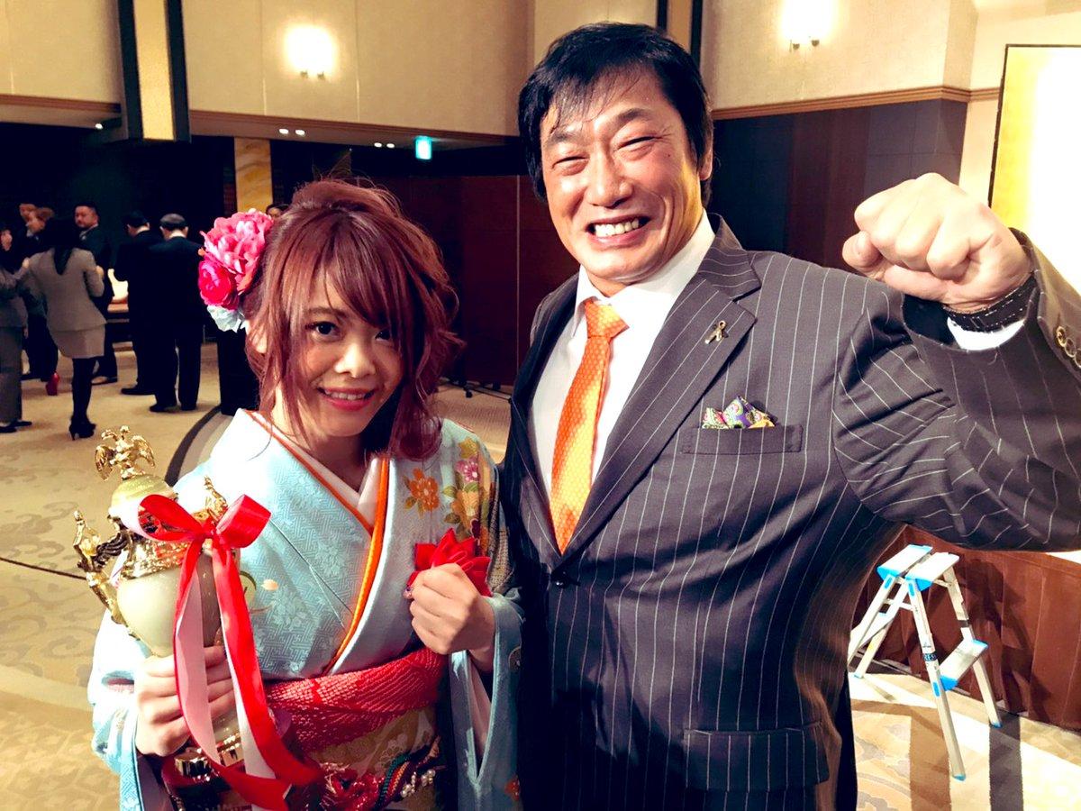 RT @FortuneKK0327: 女子プロレス大賞・岩谷麻優選手と記念撮影。少し話したが、Fortune...