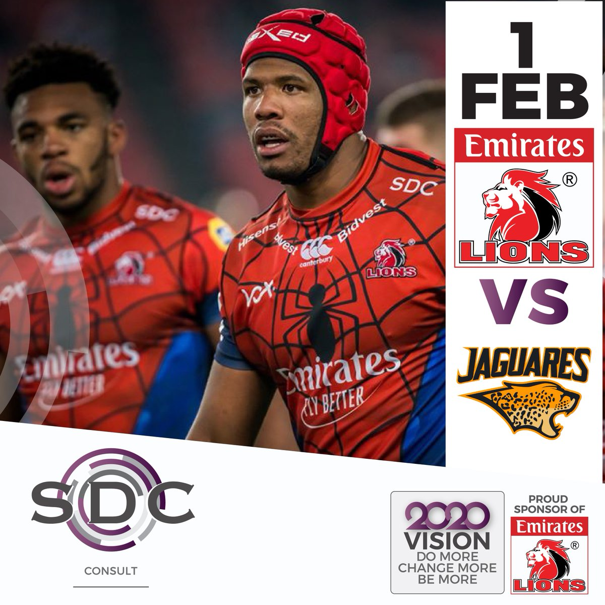 Can you believe we are a little more than 2 weeks away from kick off of the @LionsRugbyCo's 2020 @SuperRugbyNZ season!  On 1 February 2020 the Emirates Lions take on the Jaguares!  We are proud to once again be an official sponsor!   #WeAreTheDifference #2020Vision #LionsPridepic.twitter.com/hgeJBQHGOq