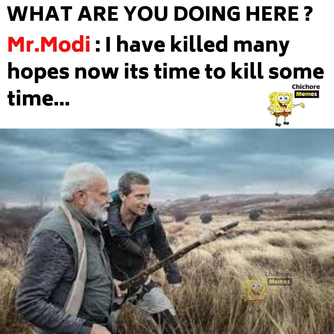 **Le Modiji . . #chichorememes #bhuvanbam #desifun #factsbytes #fuckinglaughingjokes  #nonvegjokes #memesindia #Modi #हम_मोदीजी_केसाथहैं #memes2020 #FridayThoughtspic.twitter.com/xNVI98gImt