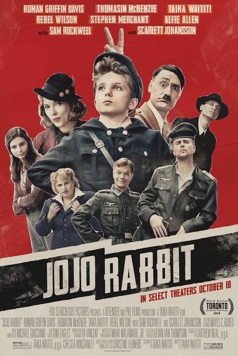 Ayer fuimos con @cristina_cajal al preestreno de #JojoRabbit. Una película con mucho humor negro poco habitual en el cine. Muy recomendable y para mi una de las películas imprescindibles de ver. pic.twitter.com/kZ3rKyqILL
