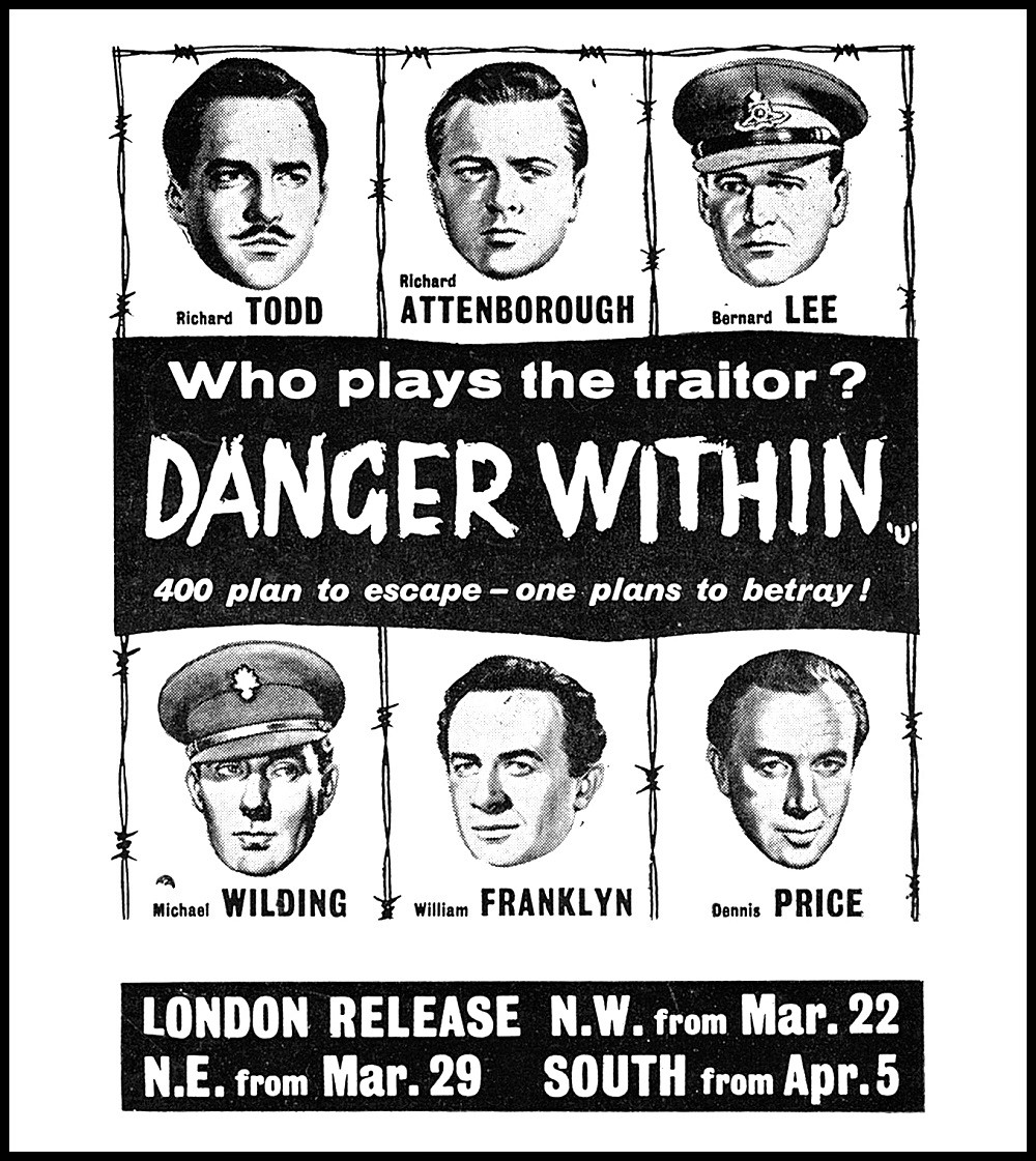 """films and filming on Twitter: """"'Danger Within' (dir. Don Chaffey ..."""