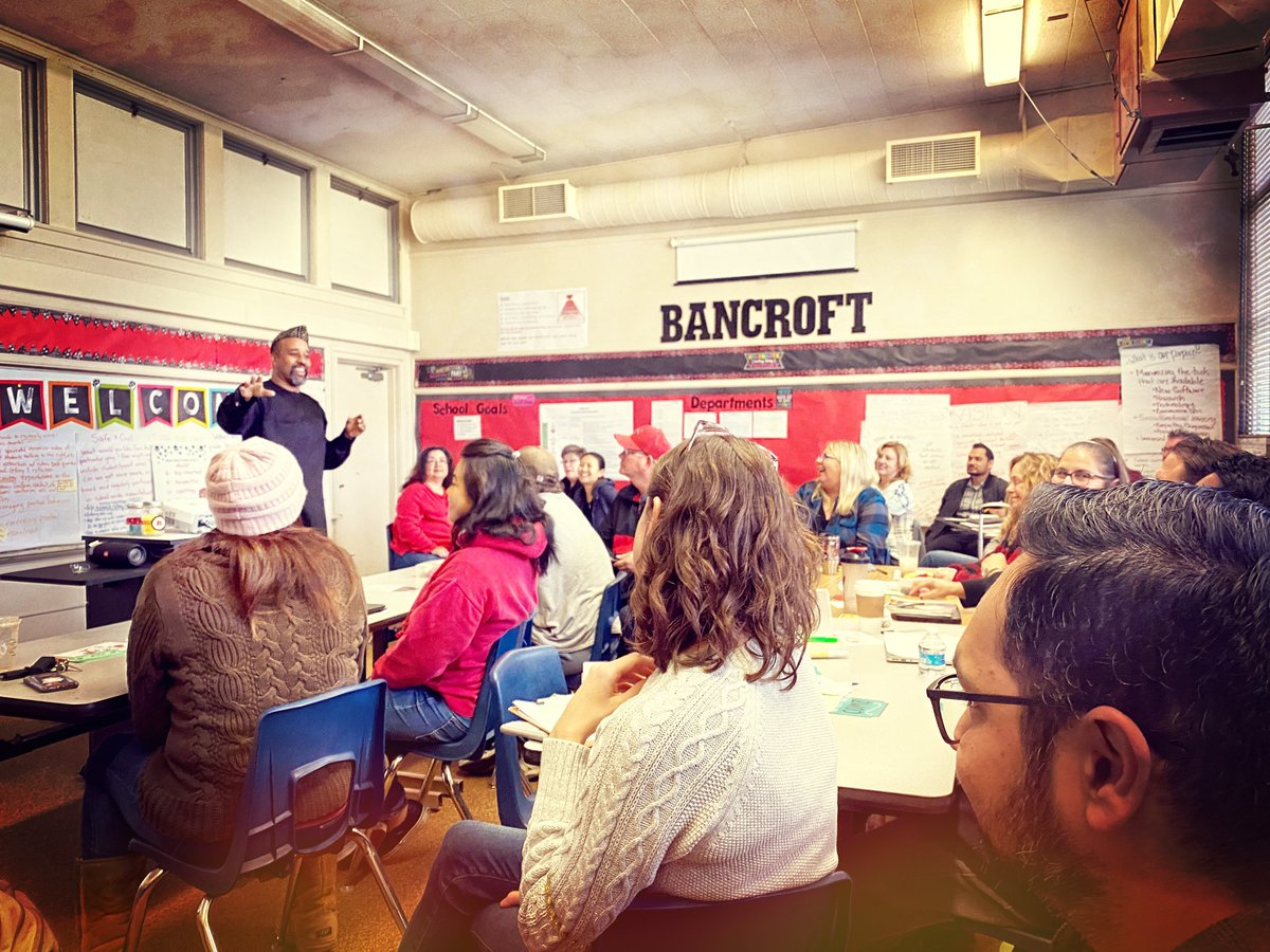 Continuing to build on our previous discussions around equity, bias, inclusion and systemic racism at Bancroft Middle School. Who says you can't have a little fun while delving deep into extremely serious issues? #proudtobeLBUSD #cityoflongbeach #babathestoryteller