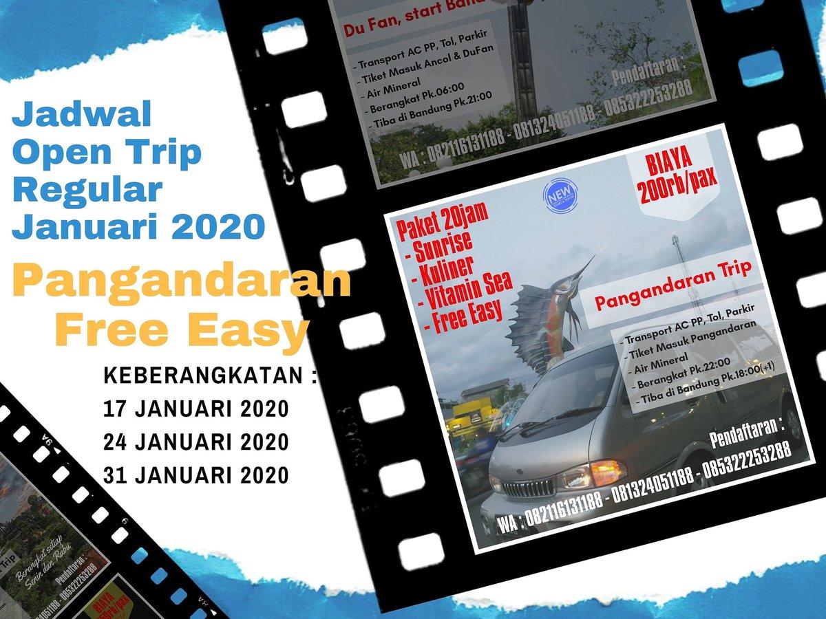 "#pangandaran  Yang mau ke Pangandaran malam ini, Jumat 17 Jan berangkat dari Bandung dan kembali lagi dari Pangandaran besok siang, cukup buat ngilangin kangen pantai dan berburu ""sunrise"" cuma 200rb saja PP masih tersedia 8 seat  #trip  #trippangandaran  #tripbandung  #tripmurah pic.twitter.com/Gbk6tY3QB9"