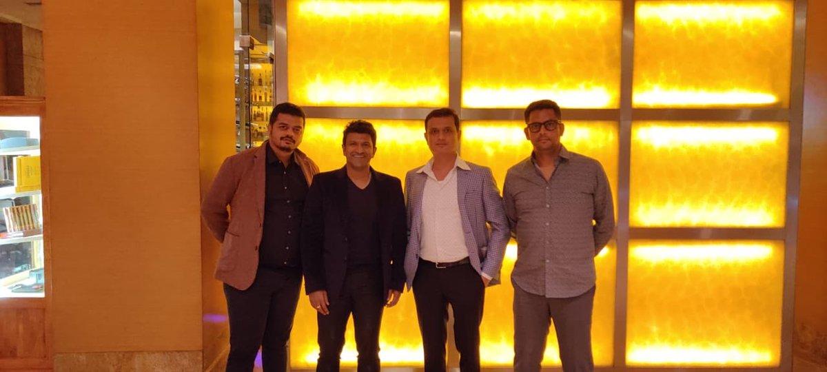 At @PrimeVideoIN @amazonIN @amazon annual function yesterday in Mumbai ✌🏻@PuneethRajkumar @VKiragandur @hombalefilms @Karthik1423