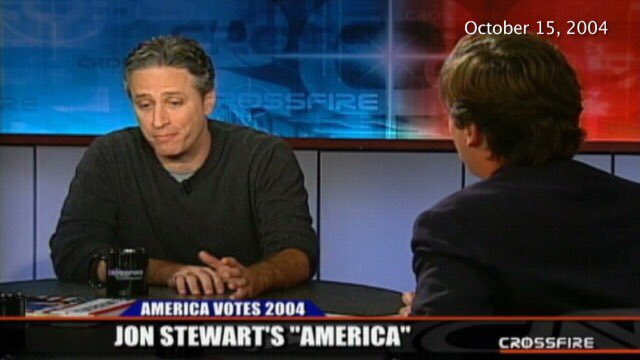 As opposed to the time Jon Stewart parked his car on top of Tucker Carlson.