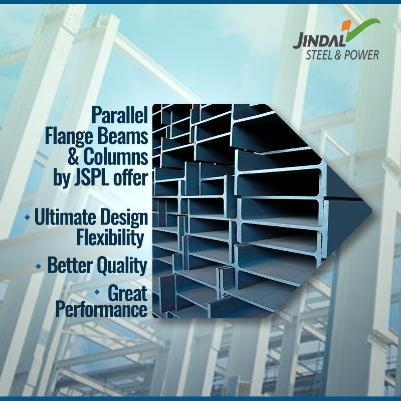 JSPL has pioneered the production of medium and heavy hot rolled parallel flange beams and column sections in India. #Innovation #BuildingIndia
