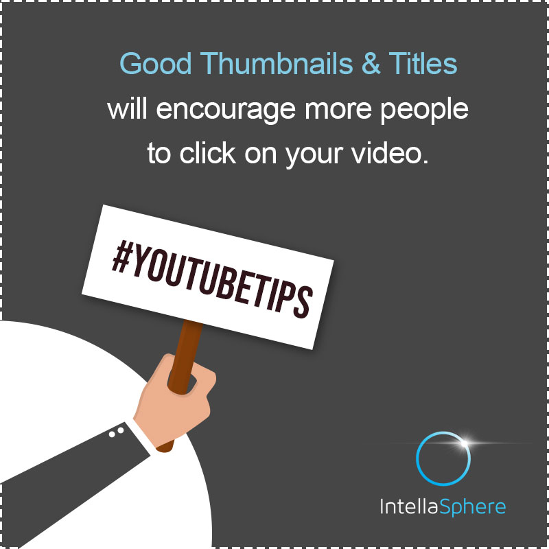 Is #YouTube one of your marketing channels? Here's a #marketing hint: Good Thumbnails and Titles Are The Secret To Getting More Views!  #DigitalMarketingTips #VideoMarketingpic.twitter.com/zw6qX6Bm2c