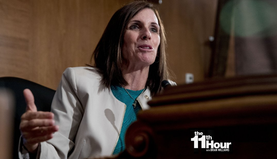 Arizona Republican Sen. Martha McSally is doubling down on and fundraising off calling a Capitol Hill reporter asking a perfectly reasonable question a liberal hack. Learn more: on.msnbc.com/30qAl8A #11thHour