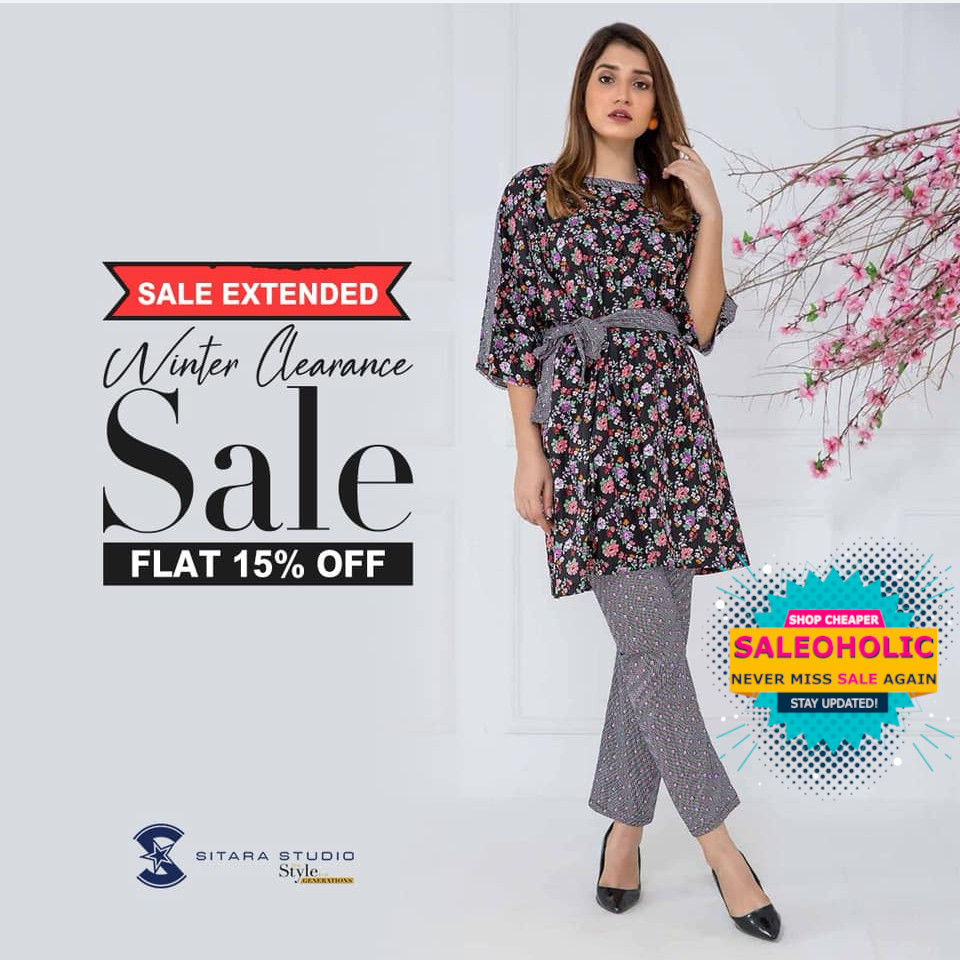 Sale Extended! - Look ultra stylish with our trending designs from the Winter Clearance Sale!  Shop At  #Sitara #SitaraStudio #Fashion #Sale #saleoholic #saleoholicdiscount #saloholicupdate #summersale #shoppinglover #wintersale #lahore #karachi #islamabad