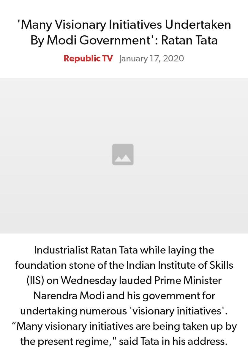 #MeraParivarBhajpaParivar #BarBarNamoNamoNamo #IndiaSupportCAA_NRC   'Many Visionary Initiatives Undertaken By Modi Government': Ratan Tata https://www.republicworld.com/india-news/general-news/many-visionary-initiatives-undertaken-by-modi-govt-says-ratan-tata.html…  via NaMo Apppic.twitter.com/akOoUmHSsk