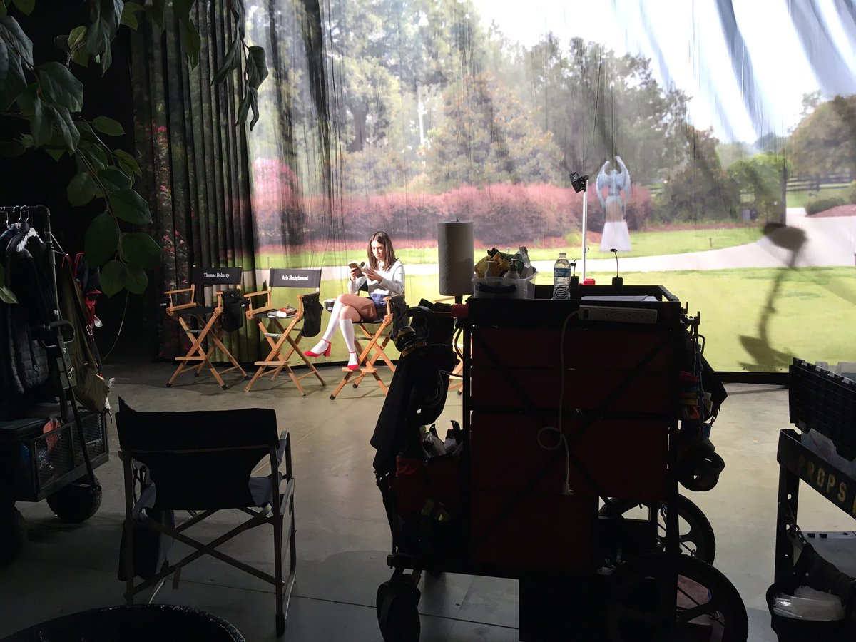 What's it like to be on the set of #Legacies you ask? It's a lot like this. #spottheextrovert