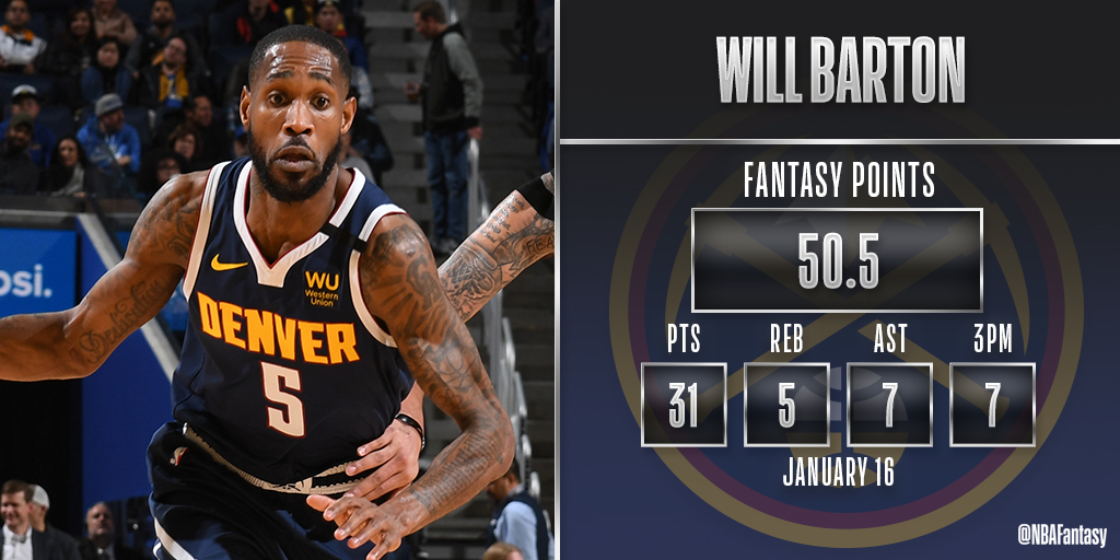 @NBAFantasy's photo on Will Barton
