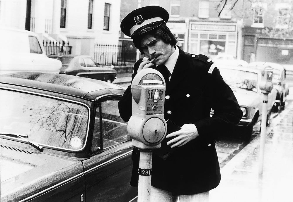 Pat Rice dressed up as a Traffic Warden (his second choice for a career), circa 1970s #FlashbackFriday
