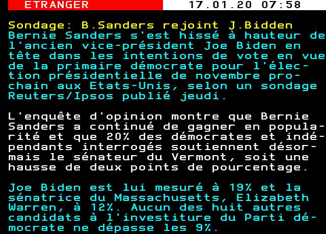Sondage: B.Sanders rejoint J.Bidden <br>http://pic.twitter.com/dHHwSmXDvj