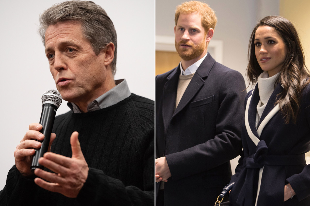 Why Hugh Grant is siding with Prince Harry and Meghan Markle https://trib.al/iDLAECm