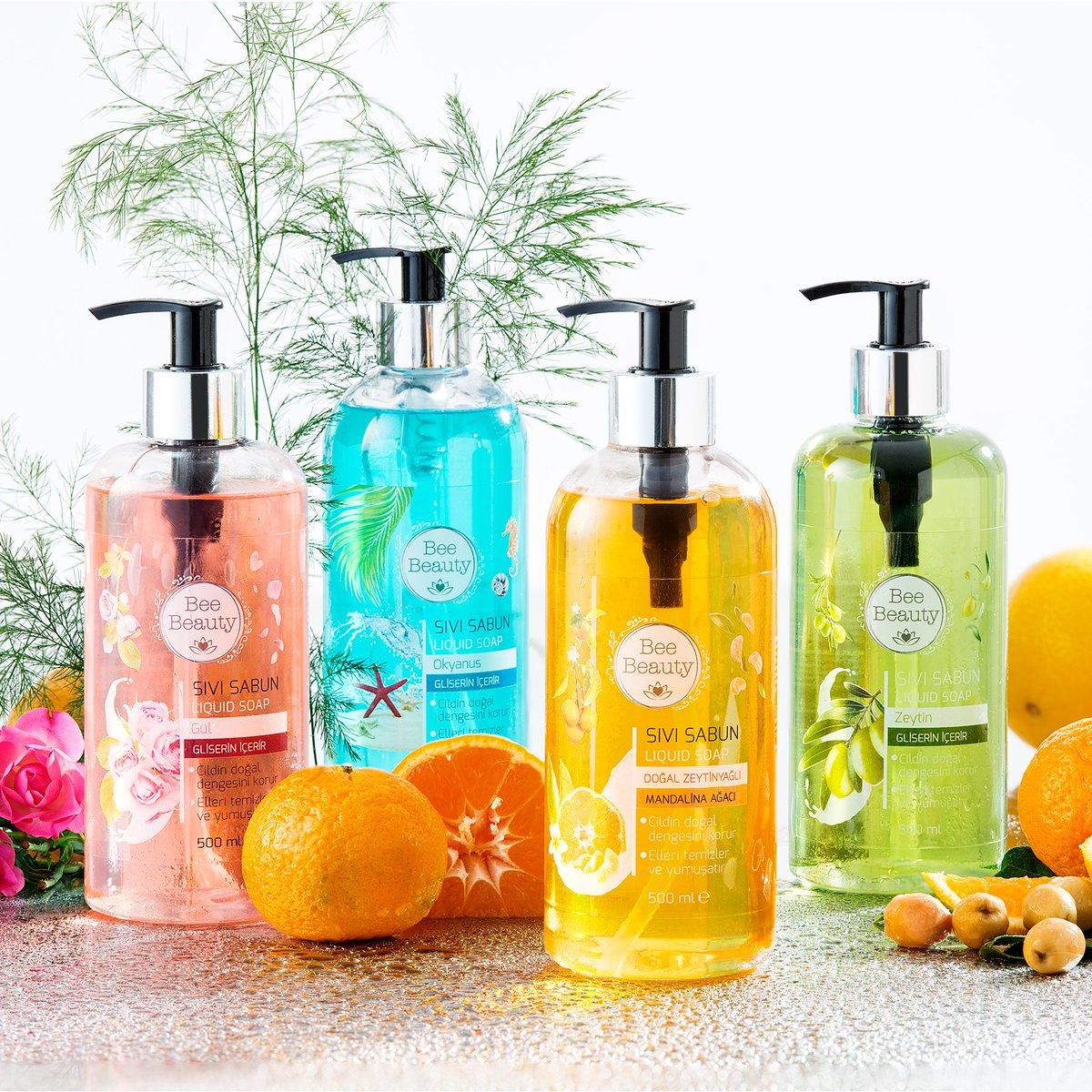 Bee Beauty sıvı sabunların harika kokuları ile günlük rutin bakımınızı keyifli bir deneyime dönüştürün! Bee Beauty Sıvı Sabun Çeşitleri 10 TL'ye sizin için sadece mağazalarımızda ve http://gratis.com'da!