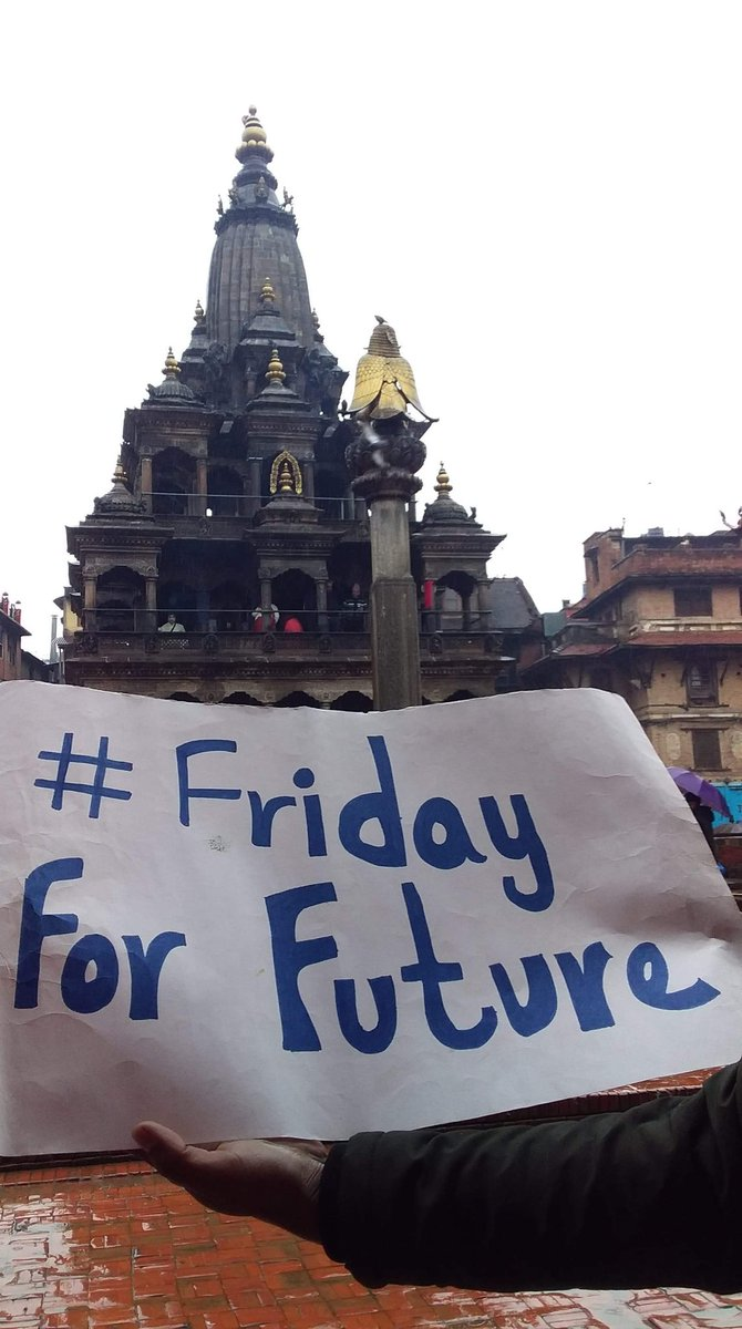 What do we want ?Climate action!...When do we want it?Now!! ....13th week of Strike on Patan Durbar square #FridaysForFuture #Strike4Climate #Youth4Climate #NepaleseYouth4ClimateAction