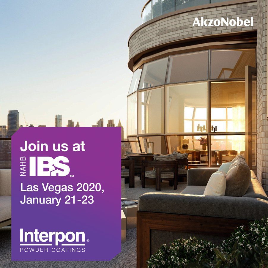 Looking for the latest innovations in architectural powder coatings? Then come find us next week at IBS Vegas 2020 and see what our professionals have to offer in color, design and AAMA rated powder coatings.  We look forward to seeing you at Pavilion C Booth # C7248. #Interponpic.twitter.com/QkXCBqi28O