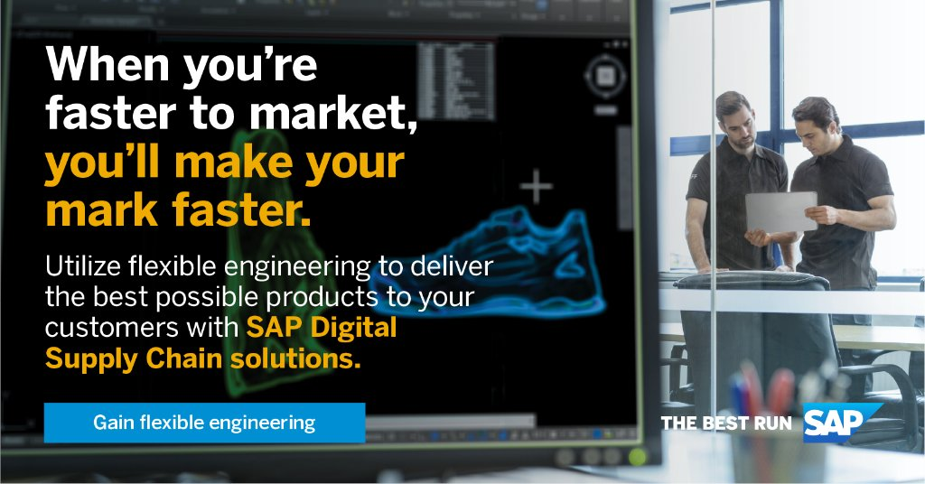 #DesignToOperate Stage 1:  Customise your products.  Design and engineering is a critical element of your#DigitalSupplyChain and helps you accelerate personalization and meet dynamic customer demand. Read the IDC Report ➡️ http://sap.to/60161dBCC
