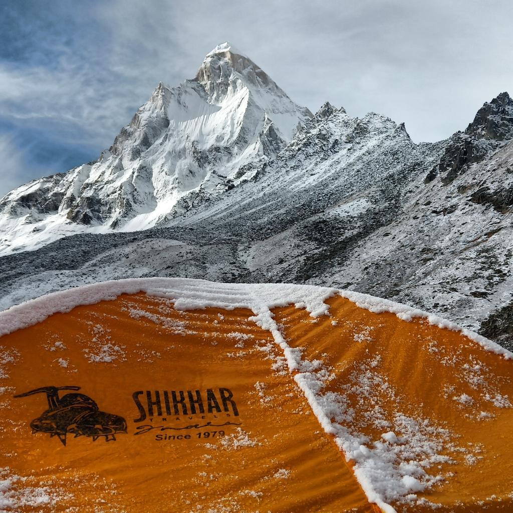 Mt. Shivling Expedition 6543M  in Uttarakhand Himalayas.   #Uttarkhand #MtShivling6543M #shivling #expedition #pictureoftheday #photographyy #campinglife #nirmalpurja #nepali #india #uttarakhand #himachal #northface #petz #climbing #rockclimbing #teamshikhar