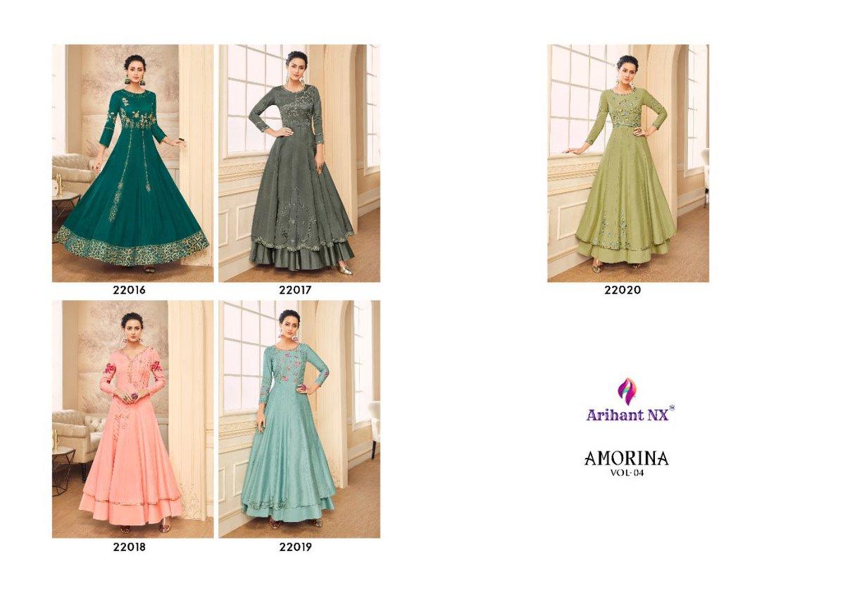 Arihant Nx Amorina-4 Muslin #wholesale #gown. Designer Heavy Gown #catalog in Muslin #sartin Silk Fabric. Book Order on : http://www.helix-india.com WhatsApp Mo : +91 63530 59008 #gown #indianfashion #designerwear #apparelpic.twitter.com/qLeM5RcUc2