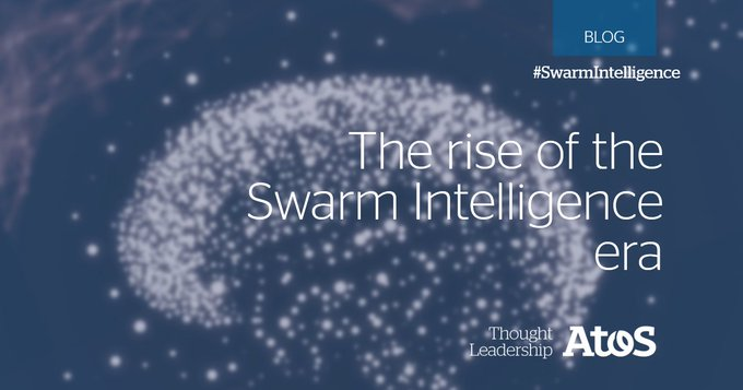 #SwarmIntelligence is inspired by behavior we see in nature, like a flog of birds,...