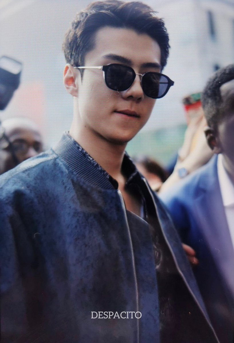Slayin everything. Slayin those glasses, slayin the outfit, slayin people's heart.. oh sehun the only man ever  #SehunAtBerlutiPFW #SEHUN #세훈 #吴世勋pic.twitter.com/LG5RZroa5X