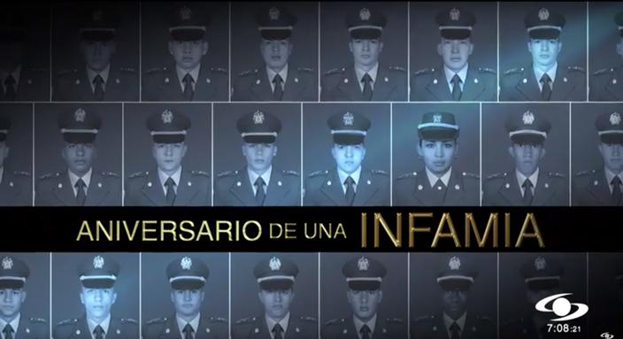 #NoticiasCaracol rinde un sentido homenaje a los 22 cadetes que hace un año, en un cobarde atentado del ELN, murieron en la escuela General Santander de Bogotá¡No los olvidamos y rechazamos toda violencia, venga de donde venga! http://bit.ly/2uQzKwL