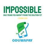 Image for the Tweet beginning: Oduwapay : Cross border payment