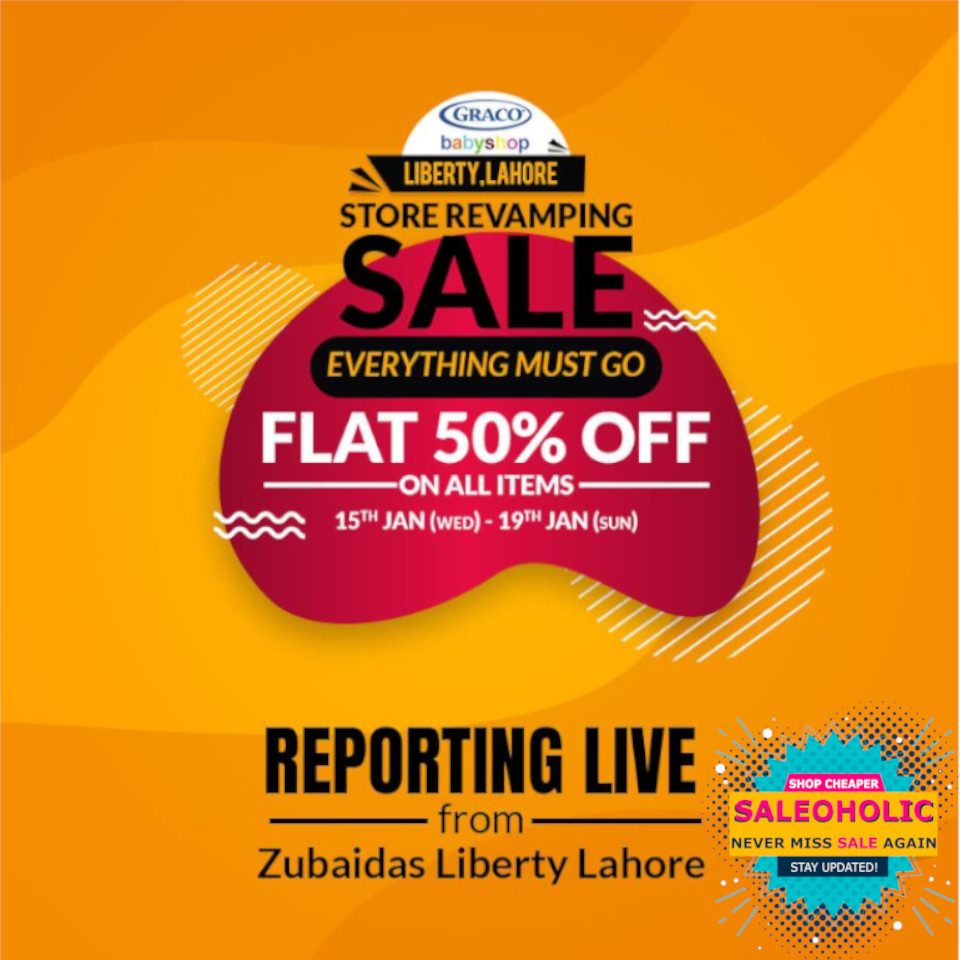 Zubaidas Little Darling Offer - Buy-1, Get-1 on 50% Off across all categories including stroller, steriliser, bottle, highchair, hoodies, sweaters, jackets, inners, caps & mufflers or anything from the store. #Zubaidas #saleoholic #saleoholicdiscount #saloholicupdate #summersale