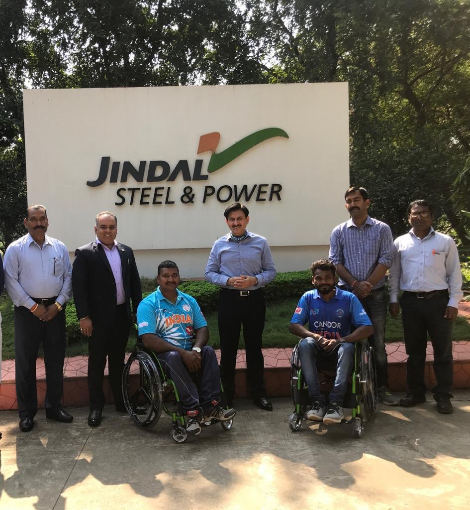 Nothing should deter budding talents to chase their dreams. Sports wheelchairs handed over to wheelchair cricketers Sunil Rao and Poshan Dhruv, who have represented Chhattisgarh in National team. @JSPLCorporate @MPNaveenJindal @shallujindal20