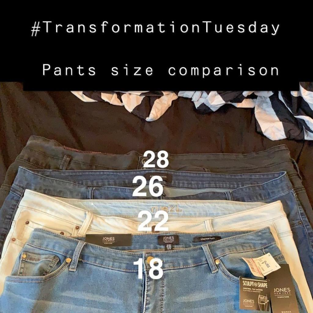 #transformationtuesday so I purchased a pair of size. (((18 ))) jeans today &…