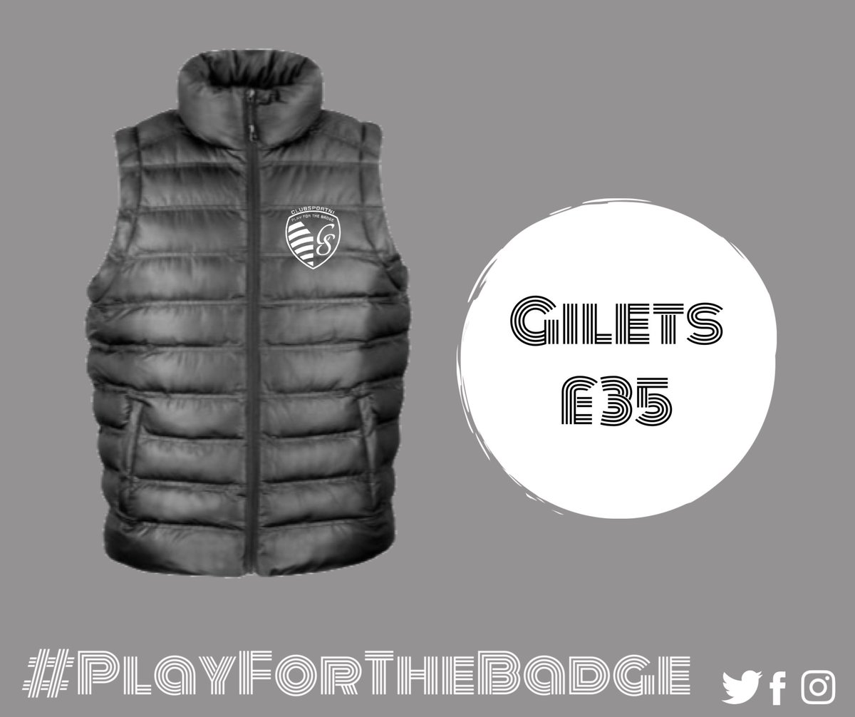 G I L E T S   We get many requests for these and now they are available to buy on our website in black and navy in sizes; Small, Medium, Large, Extra Large and XXL.  Please click on the link provided to access the gilets online!   https://www.clubsportni.com/padded-gilet-with-club-badge-37422-p.asp…  #PlayForTheBadgepic.twitter.com/zBUwPSdnBe