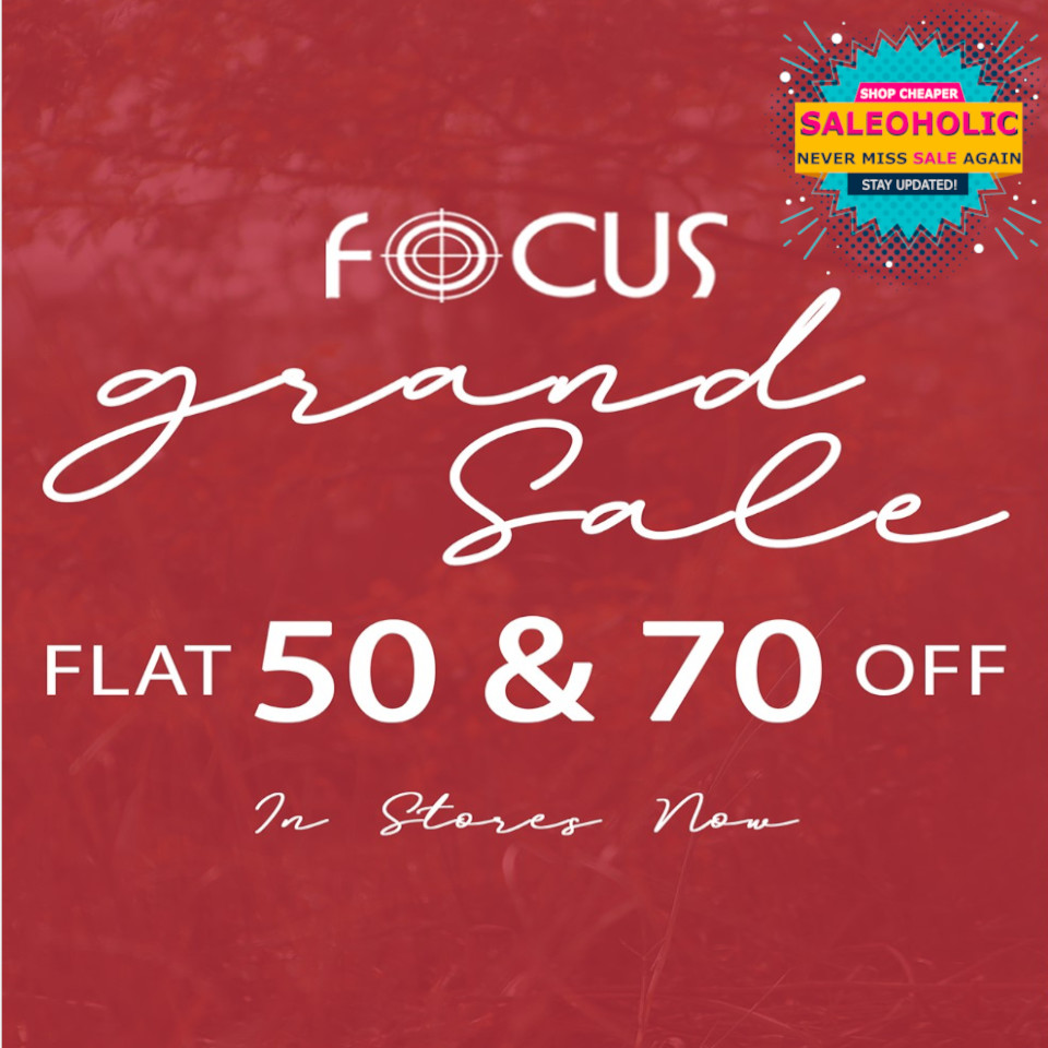 SALE OF THE YEAR IS HERE!! Rush to you nearest Stores & get your favorite outfits of the season at FLAT 50% and FLAT 70% discount. #focus #casualcollection #focussale  #saleoholic #saleoholicdiscount #saloholicupdate #summersale #shoppinglover #wintersale #lahore #karachi