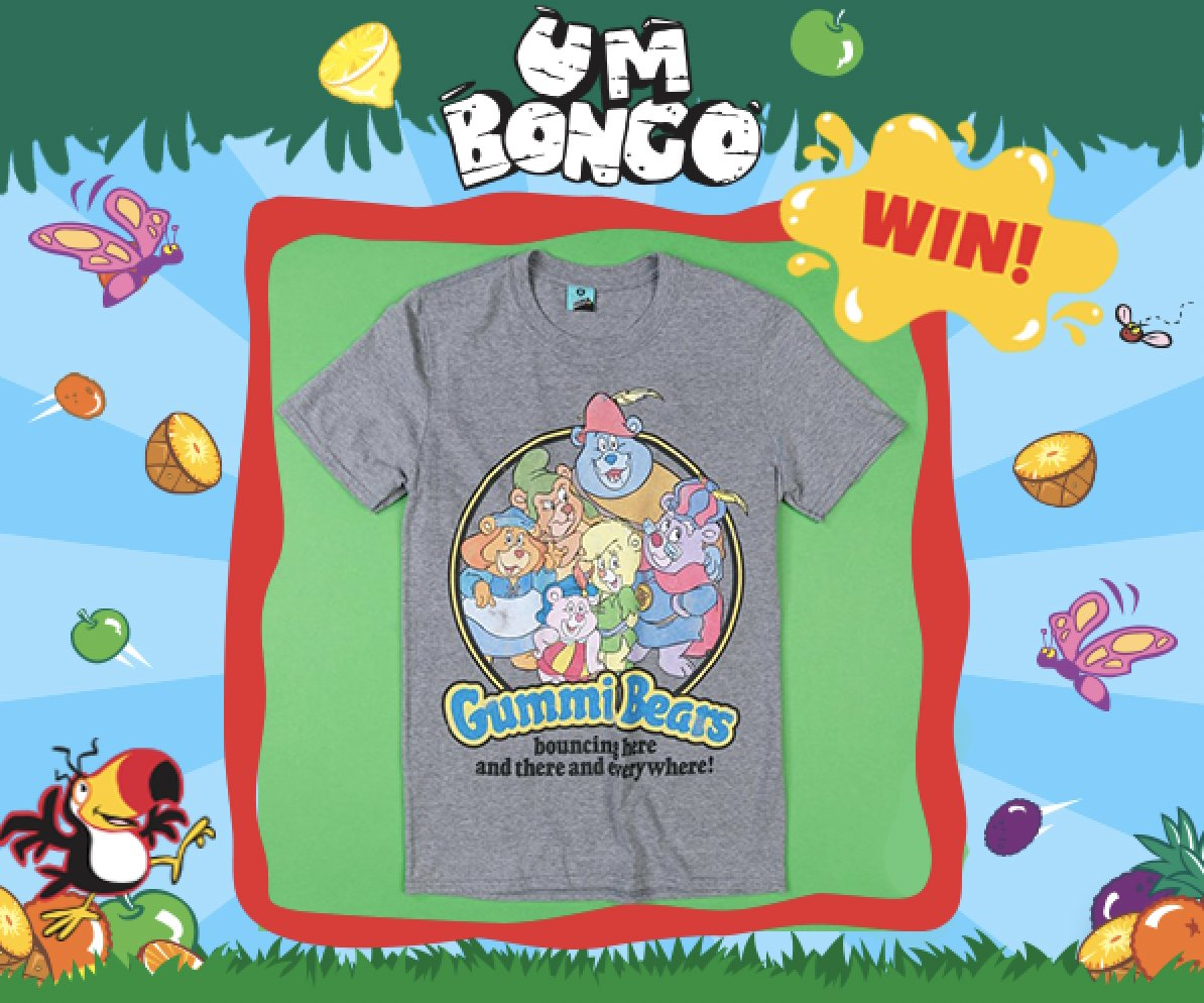 Follow, Retweet & Reply for the chance to Win a Gummi Bears T-Shirt!  The Saturday morning cartoon classic is back in T-Shirt form and we're giving 1 away! Closes 11am 23/01, UK Only, T&Cs In Bio Apply #FreebieFriday <br>http://pic.twitter.com/RhjlOFVXDq